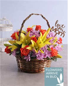 flowers: Basket of Passionate Roses!