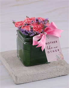 flowers: Like No Other Carnations in Square Vase!