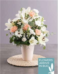 flowers: Day Lily And Rose Arrangement!