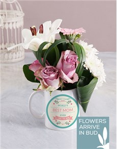 gifts: Mothers Day Best Mom Ever Flower Mug!