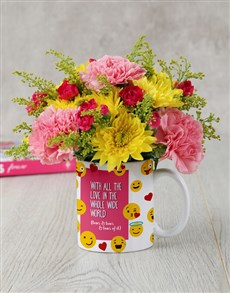 gifts: Mothers Day Emoji Flower Mug!