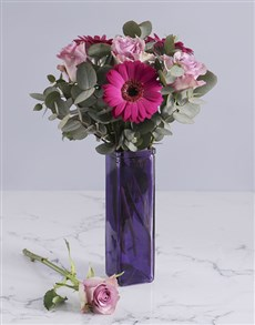 flowers: Mothers Day Purple On Purple Arrangement!