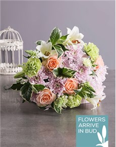 flowers: Peach and Pastel Mothers Day Bouquet!