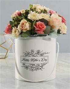 flowers: Mothers Day Pastel Floral Mix White Hat Box!