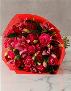 flowers: Ravishing Colours Of Love Bloom Bouquet!