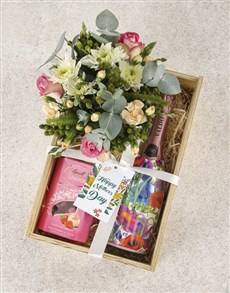flowers: Whimsical Roses and Champagne Indulgence Crate!