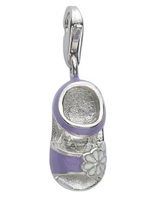 jewellery: Miss Silver Baby Shoe Charm!