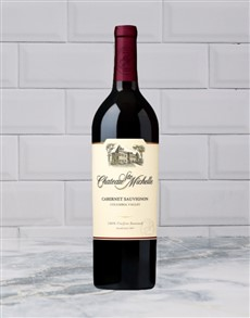 alcohol: CHATEAU STE MICHELLE CABERNET SAUVIGNON 750ML X1!
