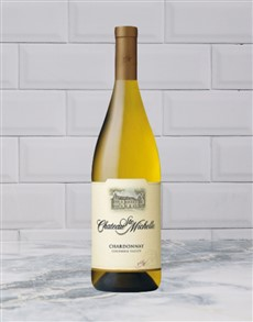 alcohol: CHATEAU STE MICHELLE CHARDONNAY 750ML X1!