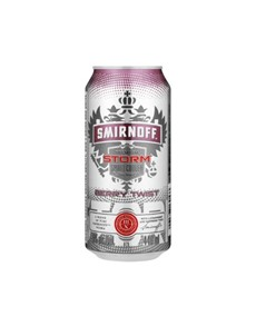 alcohol: SMIRNOFF STORM BERRY TWIST CAN 440ML!