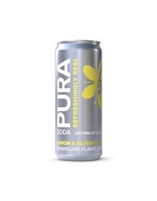 alcohol: PURA SODA LEMON & ELDERFLOWER 200ML!