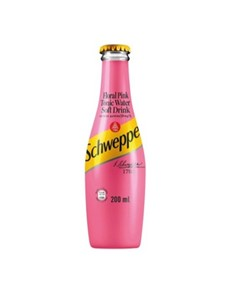 alcohol: SCHWEPPES FLORAL PINK TONIC GLASS 200ML!