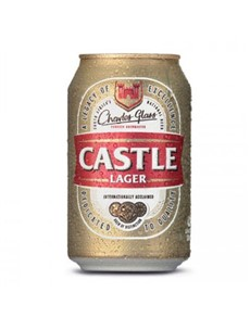 alcohol: CASTLE LAGER CAN 330ML!