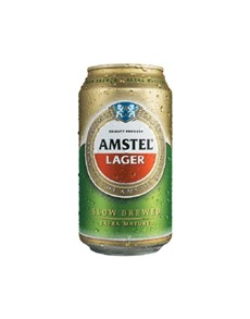 alcohol: AMSTEL LAGER CAN 330ML!