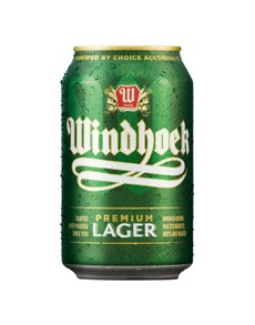 alcohol: WINDHOEK LAGER CAN 330ML!
