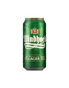 alcohol: WINDHOEK LAGER CAN 440ML!