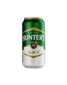 alcohol: HUNTERS DRY CAN 440ML!