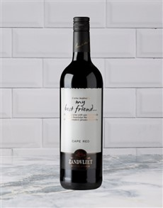 alcohol: Zandvliet My Best Friend Cape Red 750Ml!