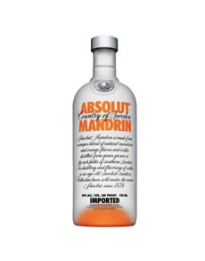 alcohol: Absolut Vodka Mandrin 750Ml!