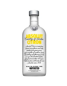 alcohol: Absolut Vodka Citron 750Ml!