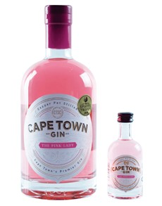 alcohol: CAPE TOWN THE PINK LADY GIN & 50ML MINIATURE !