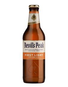 alcohol: DEVILS PEAK FIRST LIGHT GOLDEN ALE 330ML !
