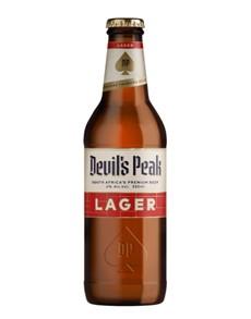 alcohol: DEVILS PEAK LAGER 330ML !