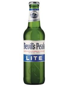 alcohol: DEVILS PEAK LITE LAGER 330ML !