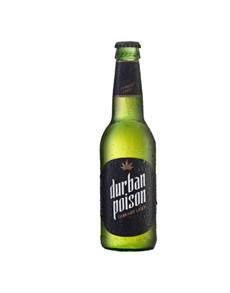 alcohol: DURBAN POISON CANNABIS LAGER NRB 340ML !