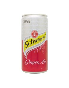 alcohol: SCHWEPPES GINGER ALE CAN 200ML !