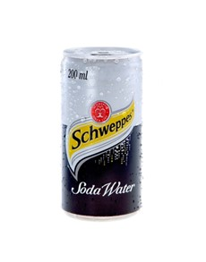 alcohol: SCHWEPPES SODA WATER CAN 200ML !