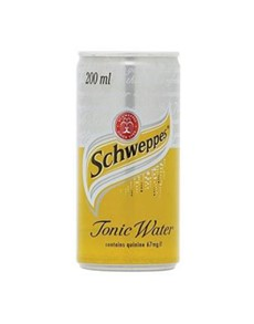 alcohol: SCHWEPPES TONIC WATER CAN 200ML !