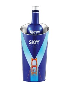alcohol: SKYY VODKA & ICE BUCKET !