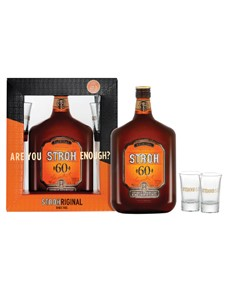 alcohol: STROH 60 Percent WITH GLASSES 500ML !