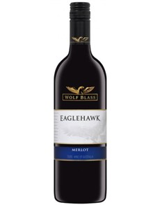 alcohol: WOLF BLASS EAGLE HAWK MERLOT 750ML !