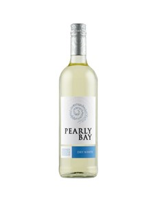 alcohol: PEARLY BAY DRY WHITE 750ML X1!