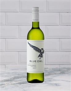 alcohol: ALLEE BLEUE BLUE OWL CHARDONNAY 750ML X1!