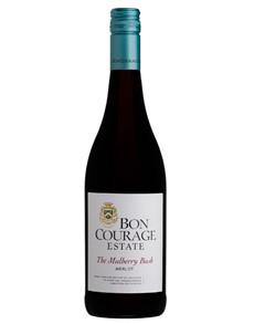 alcohol: BON COURAGE MULBERRY BUSH MERLOT 750ML X1!