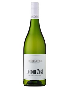 alcohol: WELTEVREDE LEMON ZEST CHARDONNAY 750ML X1!
