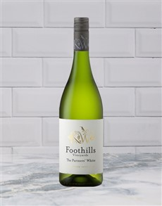 alcohol: FOOTHILLS PARTNERS WHITE 750ML X1!