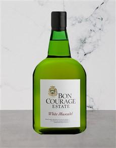 alcohol: BON COURAGE MUSCADEL WHITE 750ML!