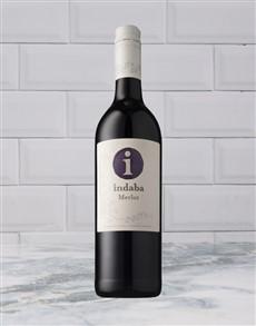alcohol: INDABA MERLOT 750ML X1!