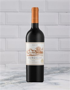 alcohol: ZORGVLEIT MERLOT 750ML X1!