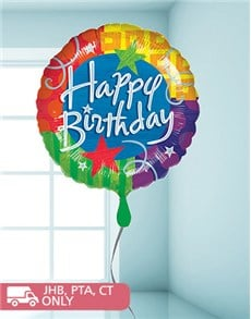Picture of Multi Coloured Birthday Balloon!