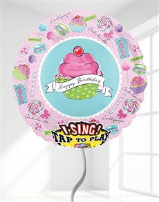 gifts: Happy Birthday Cupcake Singing Balloon!