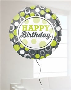 gifts: Green and Silver Birthday Balloon!