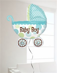 gifts: Baby Boy Buggy Super Shape Balloon!