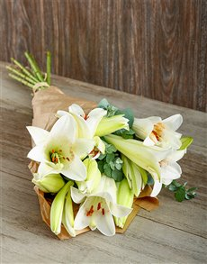 best-sellers: Lovely White Liliy Bouquet!