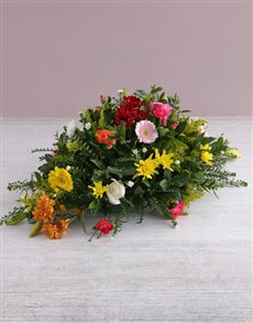flowers: Floral Mix Funeral and Coffin Display!