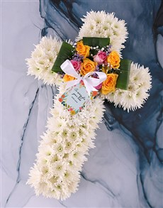 flowers: Floral Sympathy Cross!